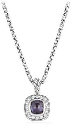 "David Yurman Kid's Albion® Cushion Pendant Necklace w/ Diamonds, 14"""