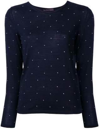 Max Mara embellished slim fit sweater