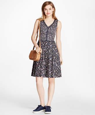 Brooks Brothers Floral-Print Cotton Sateen Dress