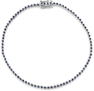 Sydney Evan White Gold Sapphire Eternity Bracelet