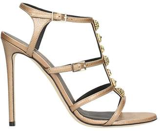 Grey Mer Powder Pink Leather Sandals