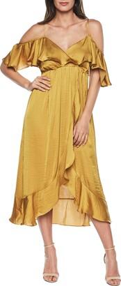 Bardot Bea Cold Shoulder Ruffle Dress
