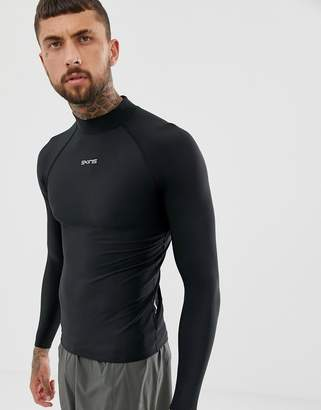 Skins DNAmic Force Thermal Compression Long Sleeve Top With Mock Neck In Black