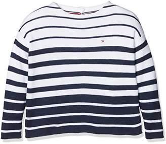 Tommy Hilfiger Girl's Stripe Sweater L/s Jumper,(Size: 16)