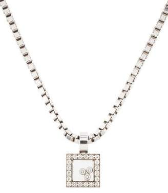 Chopard 18K Happy Diamond Icons Pendant Necklace