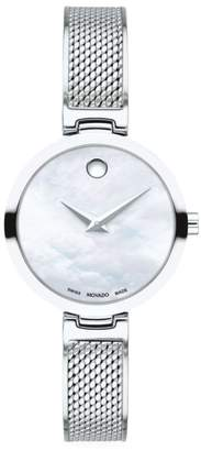Movado Amika Stainless Steel & Mesh Bangle Watch
