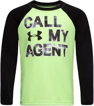 Under Armour Boys' Pre-School UA Call My Agent Raglan