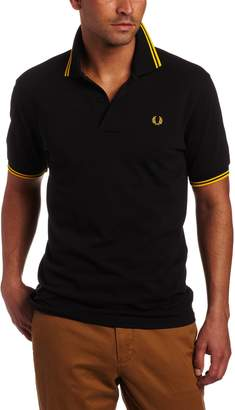 Fred Perry Men's Twin Tipped Polo Shirt, Navy/White/White