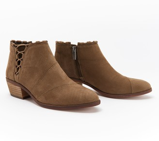Vince Camuto Suede or Nubuck Exposed Ankle Booties - Pandormia