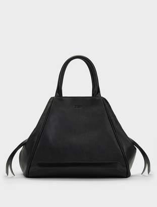 Donna Karan Donnakaran Soft Leather Convertible Tote Black/Brown N/S