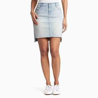 Black Daisy Women's Sharkbite Hem Mini Skirt