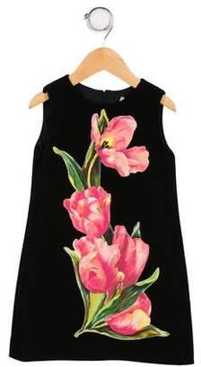 Dolce & Gabbana Girls' Wool Floral Dress w/ Tags
