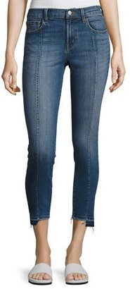J Brand Mid-Rise Pintuck Skinny Jeans, Blue $228 thestylecure.com