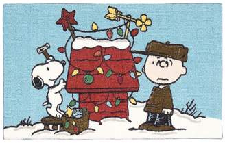 "Peanuts Holiday Snoopy and Charlie Brown Accent Rug - 20"" x 32"""