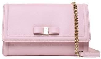 Salvatore Ferragamo Mini Vara Pebbled-leather Crossbody Bag
