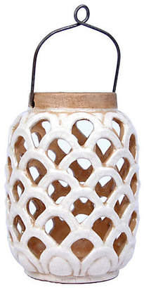 "One Kings Lane 8"" Sirena Lantern - White"