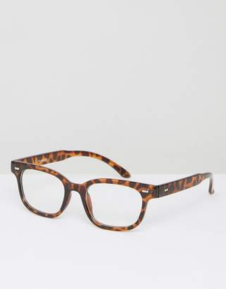 AJ Morgan Rectangular Clear Lens Glasses in Tortoiseshell $24 thestylecure.com