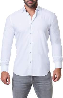 Maceoo Fibonacci Trim Fit Sparkle Dot Sport Shirt