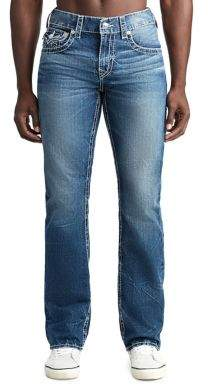 True Religion MENS BIG T SHADOW STRAIGHT JEAN W/ FLAP