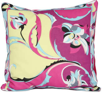"Pucci Curations By Matstone Vintage Scarf 20"" Pillow"