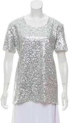 Nina Ricci Embellished Short Sleeve Top