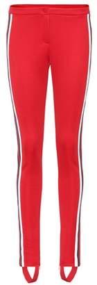 Gucci Striped cotton-blend stirrup trousers