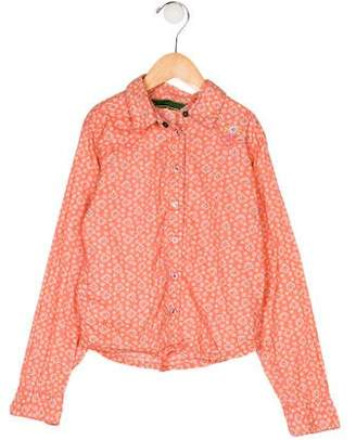 Oilily Girls' Printed Collared Top