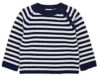 Barneys New York Infants' Striped Cashmere Sweater - Navy
