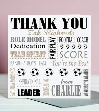 Coach Lisa Marie Designs Thank You Football Card