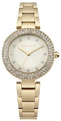 Karen Millen Women's Quartz Gold and Stainless Steel Casual Watch
