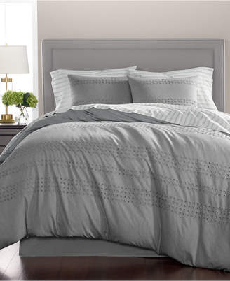 Martha Stewart Collection Eyelet Stripe Cotton 8-Pc. California King Comforter Set, Created for Macy's Bedding
