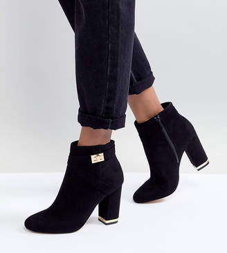 Lipsy Faux Suede Boots With Gold Trim