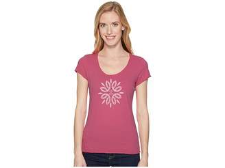 Life is Good Flower Power Smooth Tee