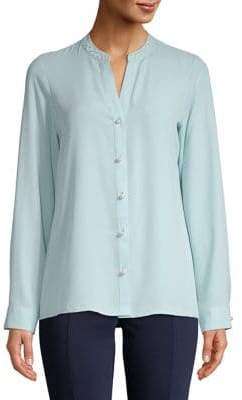 Karl Lagerfeld Paris Pearl-Embellished Shirt