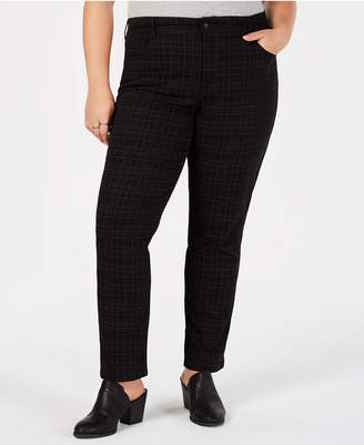 Style&Co. Style & Co Plus Size Plaid Slim Jeans