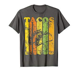 Vintage Style Funny Tacos T-Shirt Distressed Retro Style