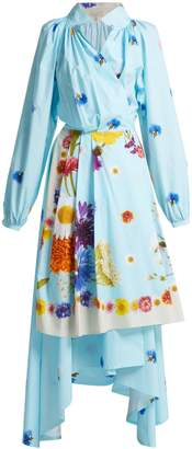 Natasha Zinko Floral-print wrap maxi dress