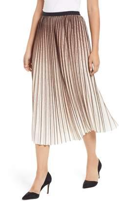 Nic+Zoe Pleat Pattern Midi Skirt