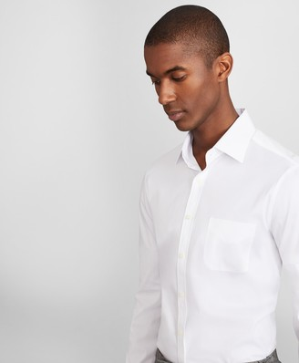 Brooks Brothers Soho Extra-Slim Fit Dress Shirt, Performance Non-Iron with COOLMAX, Ainsley Collar Twill