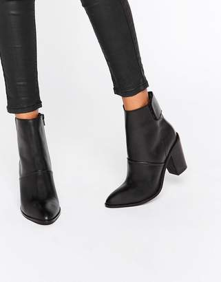 ASOS EFFIE Leather Ankle Boots $73 thestylecure.com
