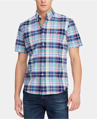 Polo Ralph Lauren Men Classic-Fit Plaid Oxford Shirt