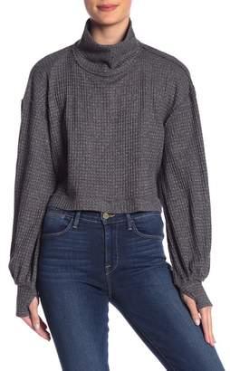 Free People Waffle Knit Turtleneck Sweater