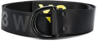 Y-3 D-ring logo belt