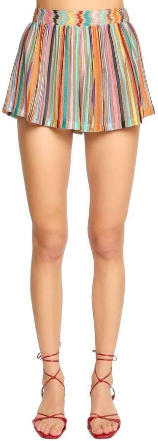 Shorts Aus Strickripp