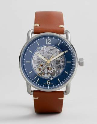 Fossil ME3159 Commutor Automatic Leather Watch 42mm