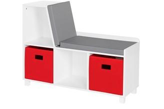 Riverridge Home RiverRidge Home Book Nook Kids' Storage Bench with Cubbies and 2-Piece Bins