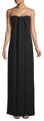 Valentino Strapless Column Silk Gown