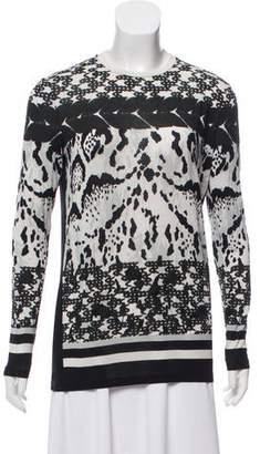 Prabal Gurung Printed Long Sleeve Top