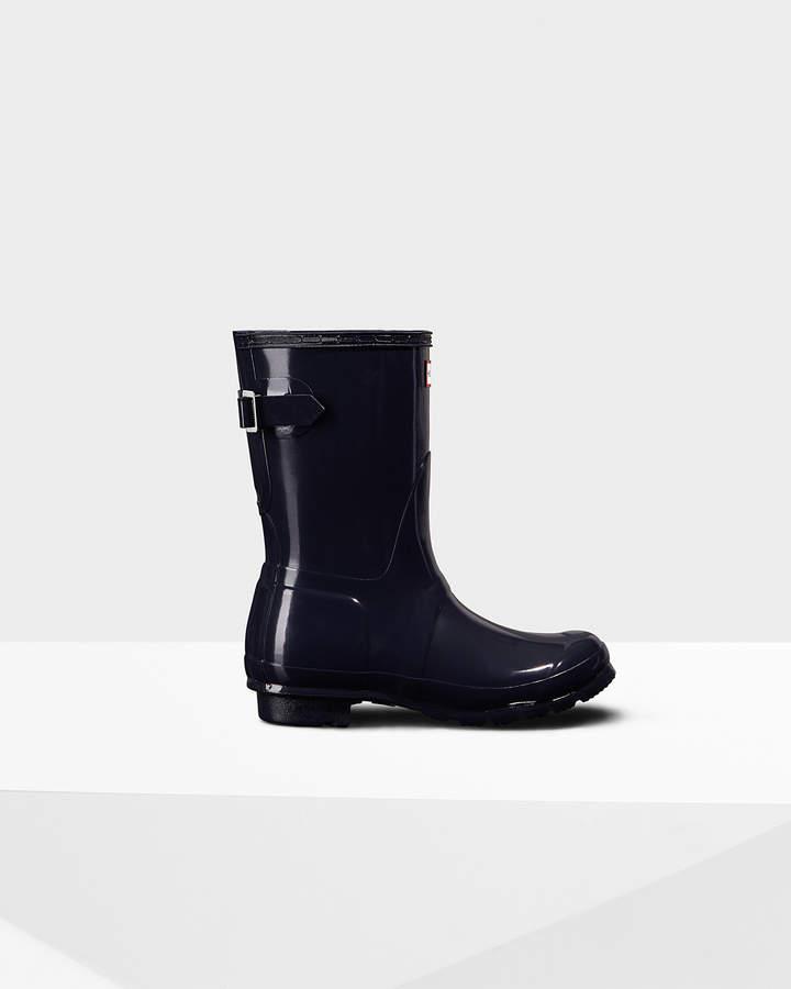 Hunter Women's Original Short Back Adjustable Gloss Rain Boots