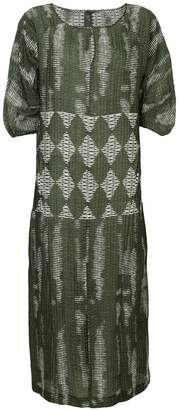 Zero Maria Cornejo geometric woven dress